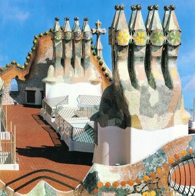 Casa Batlló Chimneys Gaudi Barcelona
