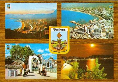 Benidorm Multi Picture Postcard