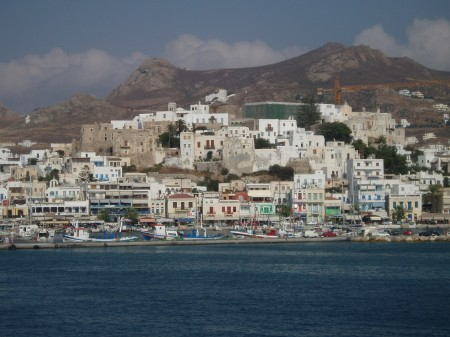 Arriving in Naxos