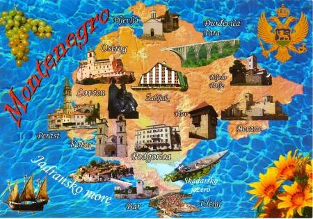 Montenegro Postcard Map