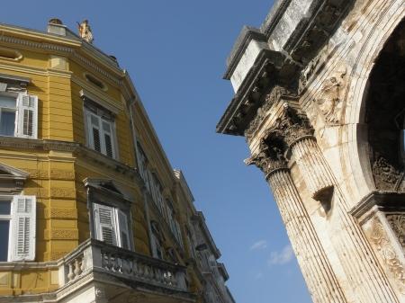 Istria Croatia Pula Roman Arch