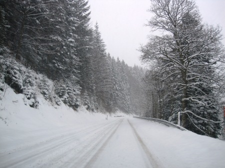 Snow Driving Black Forest Germany