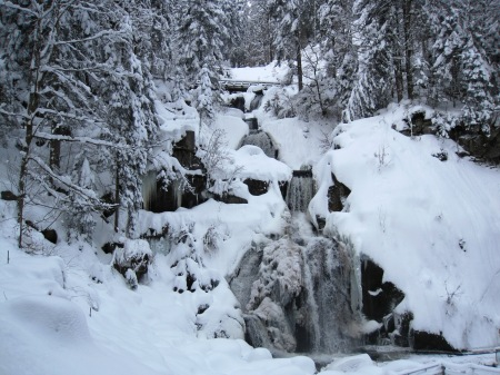 Triberg Black Forest Frozen Waterfall