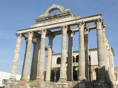 Merida Temple of Diana Extrmadura Spain
