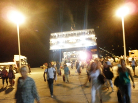 Blue Star Paros - Leaving the Ferry Chaos