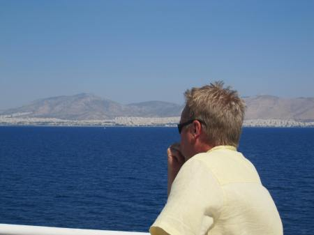 Blue Star Paros approaching Athens