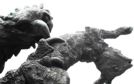 Haugesund Eagle kills Rabbit Statue