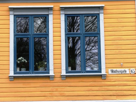Yellow House Windows Haugesund Norway