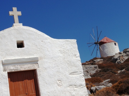 Amorgos Windmills Chora Greece