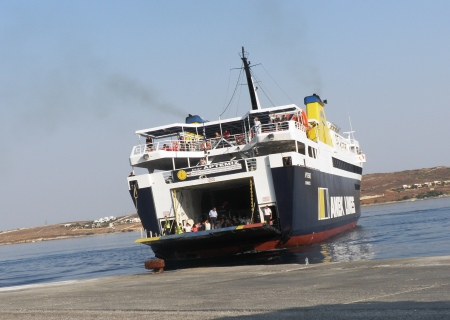 Greek Ferry Artemis in Paros