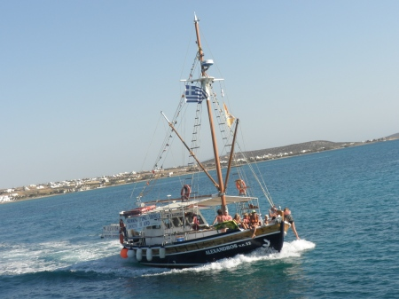 Party Boat Antiparos Greece
