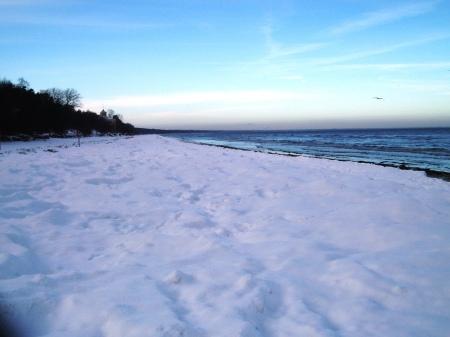Riga Jurmala Frozen Beach