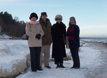 Riga Latvia Jurmala Frozen Baltic Sea