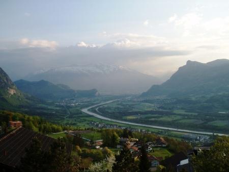 Liechtenstein The River Rhine