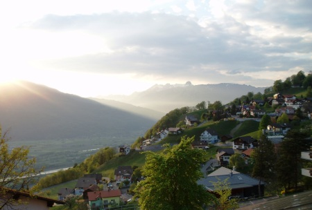 Liectenstein View from Triesenburg