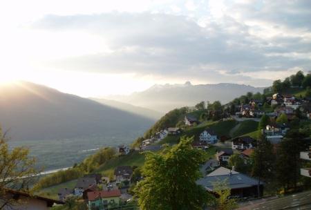 Liectenstein View from Triesenburg