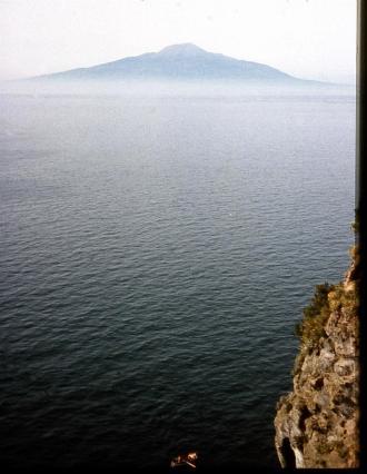 Vesuvius from Hotel Mediterraneo Sorrento