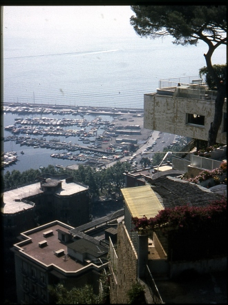 Naples Italy from viewing platform