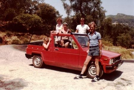 Corfu Red Jeep