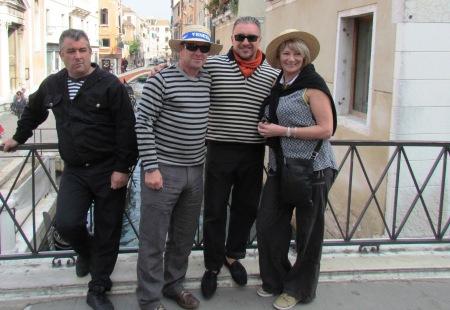 Venice Italy Gondoliers