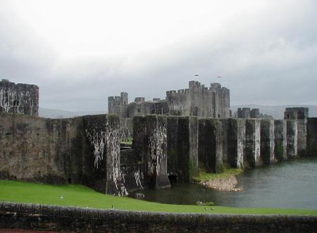 Wales Carnarvon Castle Rain