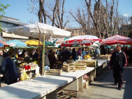 Pula Croatia Vegetable Market