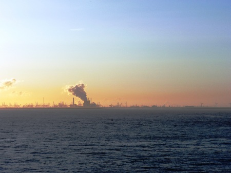 Rotterdam from the North Sea