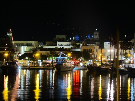 Kos Harbour at Night