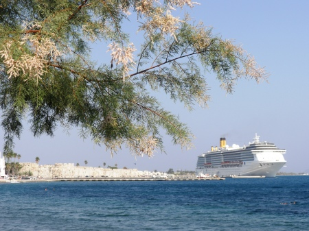 Costa Atlantica Cruise Ship at Kos Harbour Greece