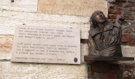 William Shakespeare Verona Italy