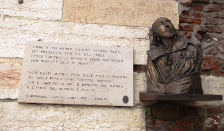 William Shakespeare Verona Italy
