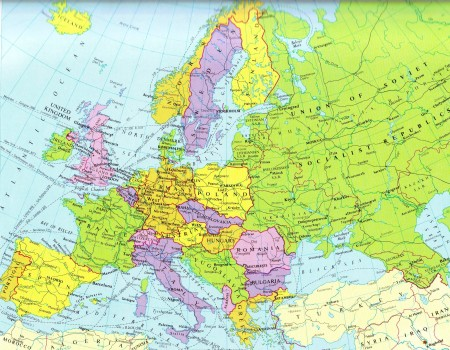 Cold War Map of Europe