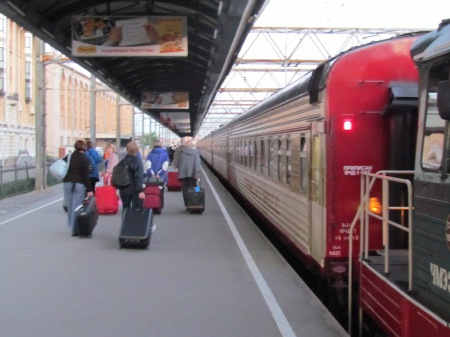 Saint Petersburg to Moscow Train