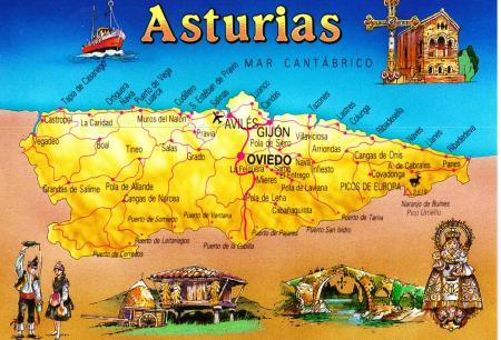 Asturias Postcard