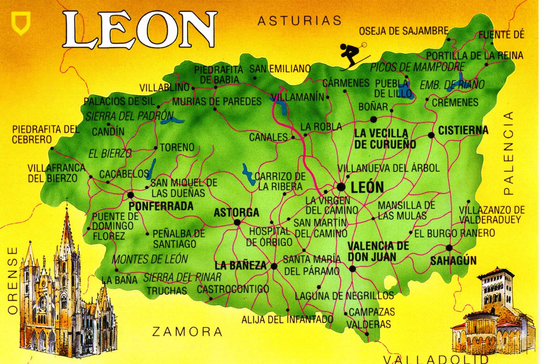 Leon Spain  city images : Leon Spain postcard