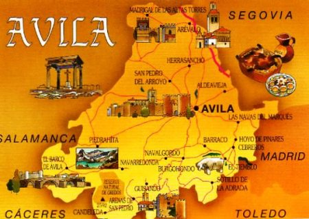 Avila Postcard Map