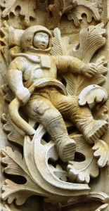 Salamanca Cathedral Spaceman