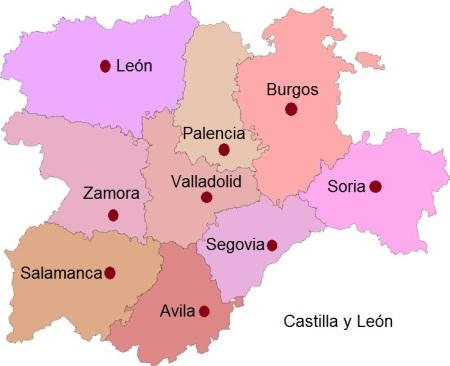 Cities of Castilla y Leon